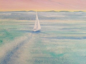 Sailing to Scilly sold at last year's open studio